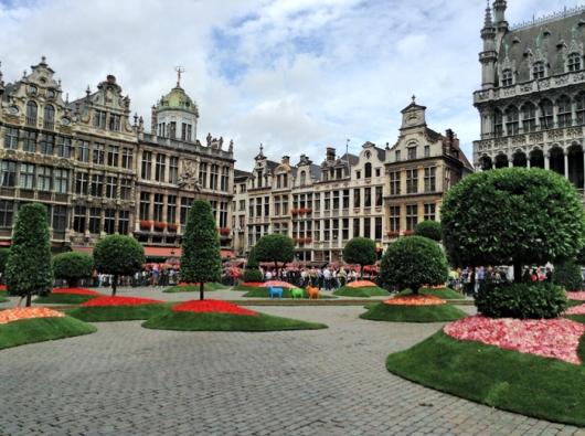 Гранд Пляс 15 августа 2013, Брюссель