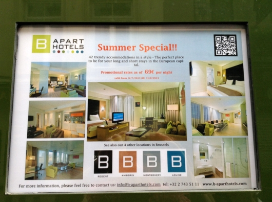 Доска объявлений об аренде апартаментов, Брюссель