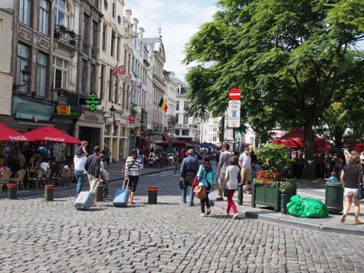 До центральных отелей Брюсселя можно дойти пешком с Центрального вокзала