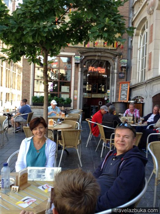 С друзьями, кабачок «Le Poechenellekelder», Брюссель