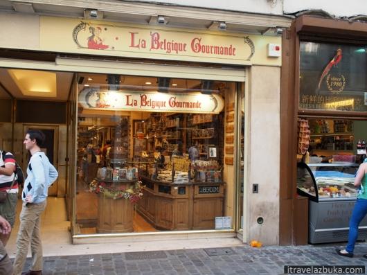 Домашнее мороженое – справа на фото, Брюссель